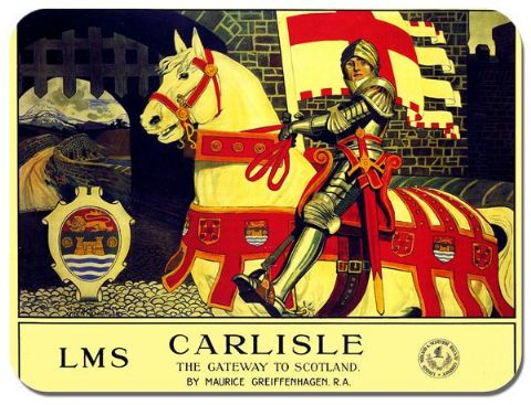 Carlisle LMS Railways Vintage Poster Mouse Mat. Scotland Gateway Train Mouse Pad